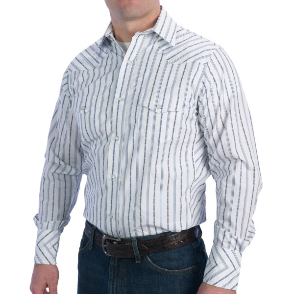 Resistol University Dobby Stripe Western Shirt - Long Sleeve (for Men)