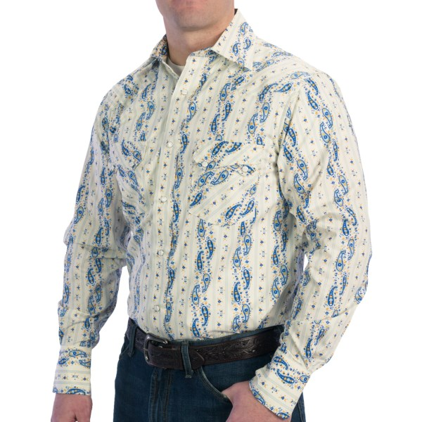 Resistol University Printed Sawtooth Shirt - Snap Front, Long Sleeve (For Men)