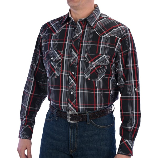 CLOSEOUTS . Modern Western style comes easy with the Resistol University dobby plaid western shirt. It features Resistoland#39;s andquot;University Fit,andquot; which is ideal for cowboys nicknamed andquot;Slim,andquot; and it has plenty of high-end details, including pick-stitching on the yoke and pockets. Available Colors: RED STRIPE. Sizes: 2XL, L, M, S, XL.