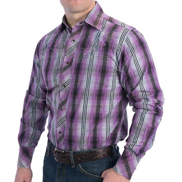 Resistol University Black Line Fever Shirt - Snap Front, Long Sleeve (For Men)