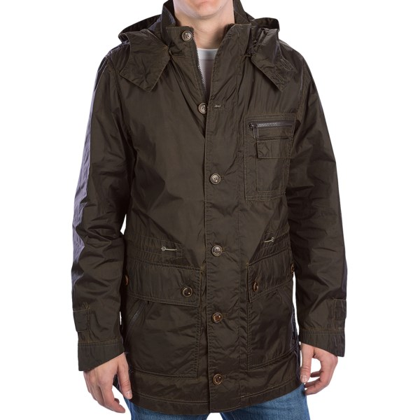 Rainforest Garment-Washed Rain Parka - Removable Hood (For Men)