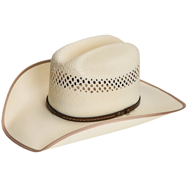Bailey Winchester Cowboy Hat - 4X Straw, Cattleman Crown (For Men and Women)