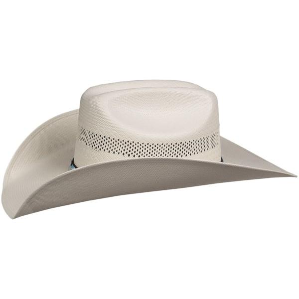 Bailey Harrington II Cowboy Hat - 15X Shantung Straw, Cattleman Crown (For Men and Women)