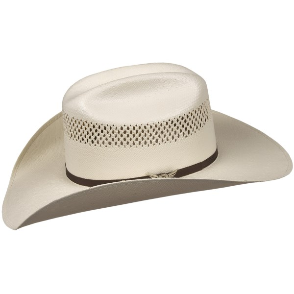 Relentless by Bailey Bullseye Cowboy Hat - 20X Shantung Straw, Cattleman Crown (For Men and Women)