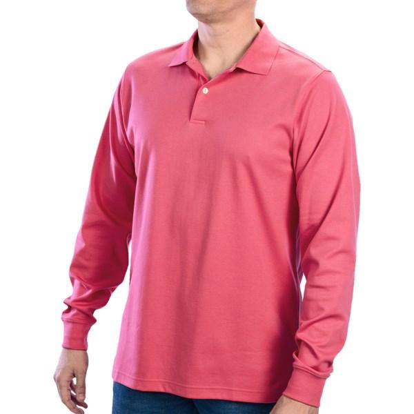 Fairway and Greene Interlock Cotton Polo Shirt - Long Sleeve (For Men)