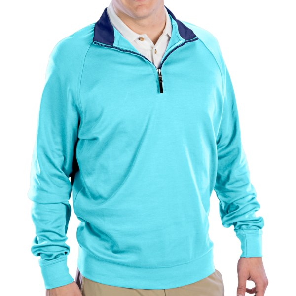 CLOSEOUTS . Living up to its name, Fairway andamp; Greeneand#39;s Luxury shirt features a casual-yet-refined style with a contrast-trimmed zip mock neck for layering and the softest, finest knit interlock pima cotton youand#39;ll ever touch. Available Colors: BAYSIDE, BITTERS, BOTTLE, ESPRESSO, GRENADINE, MARINE, WAVE/SHADOW GREY HEATHER, NAVY, WAVE, RIVIERA, PASSPORT BLUE, CORNFLOWER, LIME GREEN, TOMATO, CREAM, BLACK, DARK SHADOW GREY HEATHER, VERDE, CLASSIC BLUE/PALE MOON, PALE MOON. Sizes: S, M, L, XL, 2XL, 3XL.