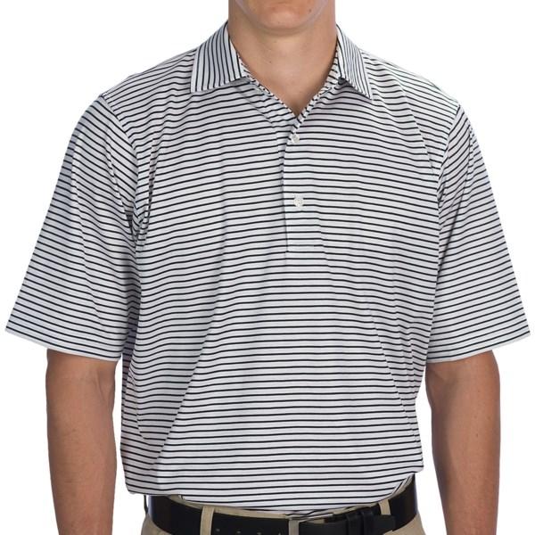 Fairway and Greene Aberdeen Stripe Lisle Cotton Polo Shirt - Short Sleeve (For Men)