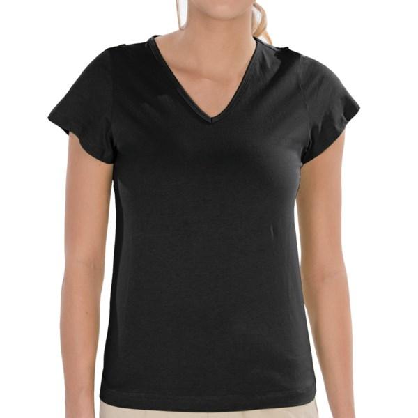 Royal Robbins Babette T Shirt   Short Sleeve (For Women)   JET BACK (M )
