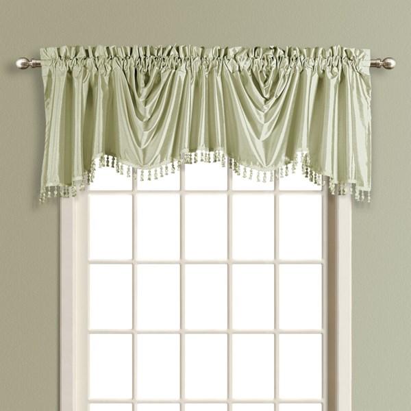 United Curtain Co. Anna Austrian Valance - 108x31?, Faux Silk, Rod Pocket