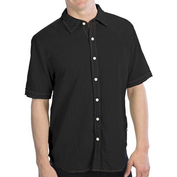True Grit Harley Shirt - Cotton, Heavy-Stitch Detail, Short Sleeve (For Men)
