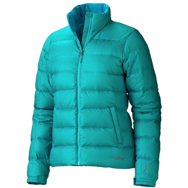 CLOSEOUTS . The 700 fill power down inside Marmotand#39;s Highland down jacket is exceptionally resistant to clumping and loft loss, thanks to Down Defender -- a special treatment that preserves the down through years of wear. Available Colors: SEA GLASS, VIBRANT PURPLE, BLACK, PLATINUM, GEM BLUE, AQUA BLUE, PLUM ROSE. Sizes: XS, S, M, L, XL.