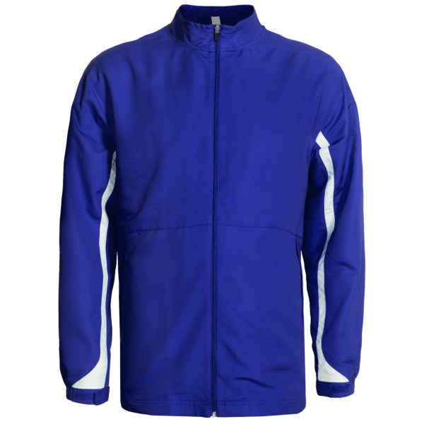 CLOSEOUTS . Sometimes itand#39;s not cold enough out for your big, thick coat, but itand#39;s still a little on the breezy side when heading out the door. Russell Athleticand#39;s Active track jacket is the perfect choice when you need a lightweight outer layer thatand#39;s easy to peel off when youand#39;ve warmed up. Available Colors: NEEDS COLOR, STEALTH/WHITE, SHALE/WHITE, ROYAL/WHITE, NAVY/GOLD, TRUE RED/WHITE, PURPLE/WHITE, NAVY/WHITE, COLUMBIA BLUE/WHITE, BLACK/WHITE, KELLY/WHITE, MAROON/WHITE. Sizes: 1X, 2X, 3X.