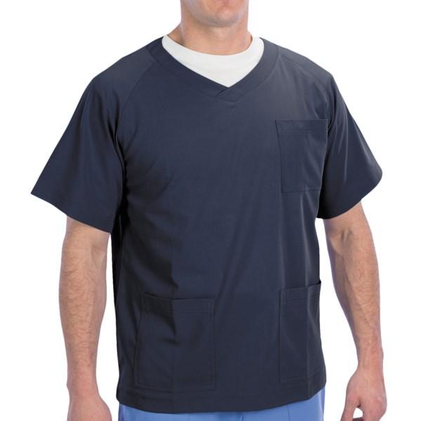 Dansko Douglas V-Neck Scrub Top - 3-Pocket, Short Sleeve (For Men)