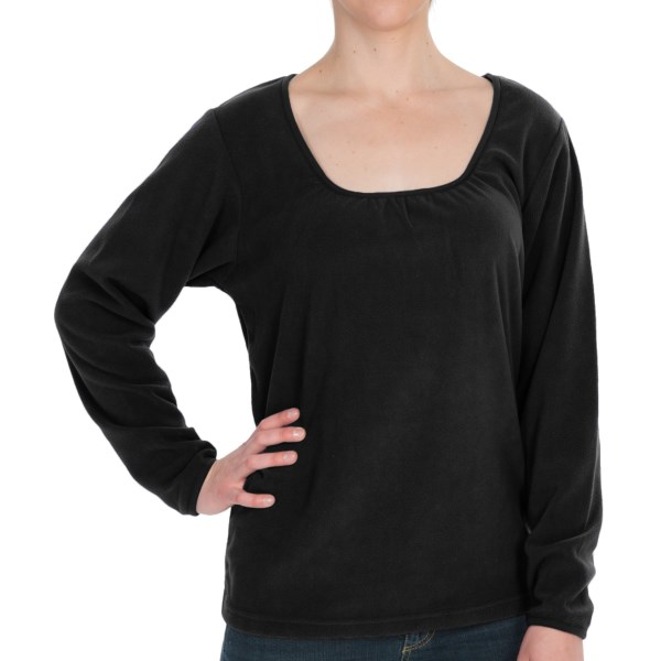 10,000 Feet Above Sea Level Fleece Shirt Long Sleeve (For Women)