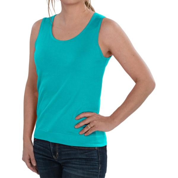 August Silk Knit Sleeveless Top - Silk Blend (For Women)