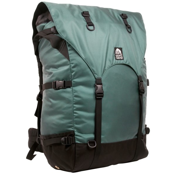 CLOSEOUTS . Granite Gearand#39;s Quetico expedition portage pack is spacious and smartly engineered specifically for canoe trips. Made of durable Corduraand#174; nylon, it has a heavy-duty top and side haul handles, and a harness that keeps the weight of your load close to the body. Available Colors: SMOKE BLUE.