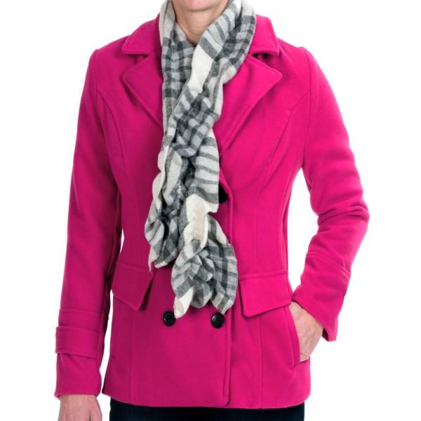 Harve Benard Pea Coat with Scarf (For Women)