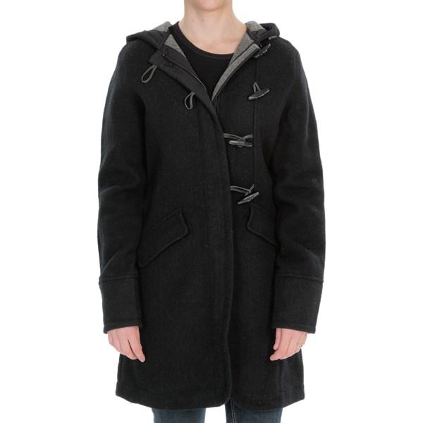 e963759b1859 Woolrich Bristol Duffle Coat Wool (For Women) BLACK (L ) on PopScreen