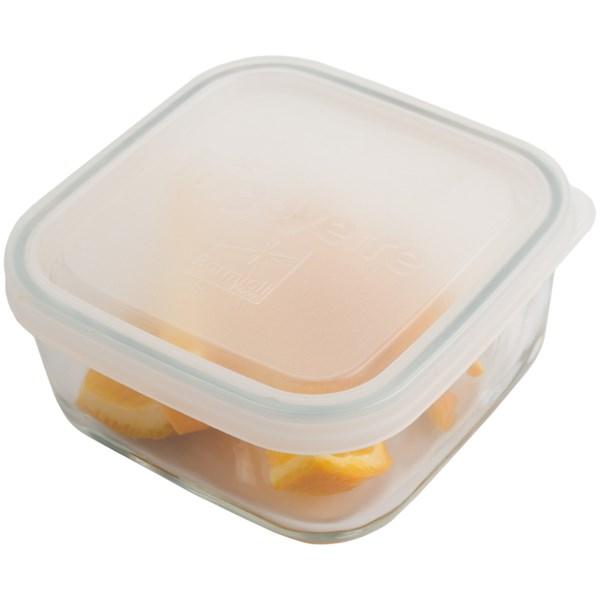 Bormioli Rocco Frigoverre Food Storage Container - Glass, Square