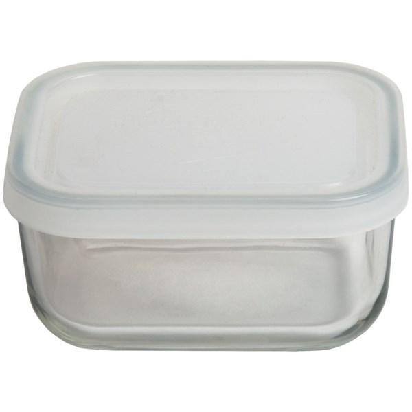 Bormioli Rocco Frigoverre Food Storage Container - Glass, Rectangular, 5 Oz.
