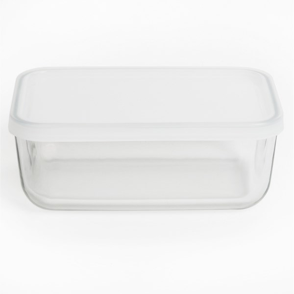 Bormioli Rocco Frigoverre Food Storage Container - Glass, Rectangular