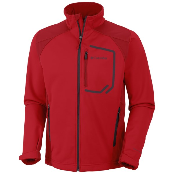 Columbia Sportswear Key Three II Omni Heat(R) Jacket   Soft Shell (For Men)   691 BRIGHT RED (XL )