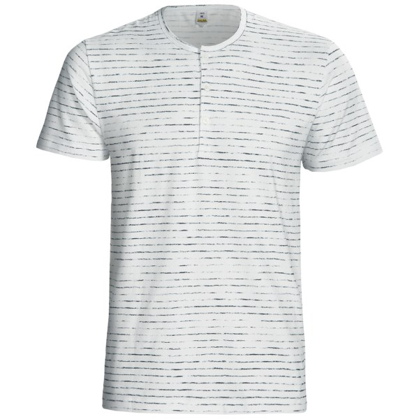 Calida Liberty Henley T-Shirt - Stretch Cotton, Short Sleeve (For Men)