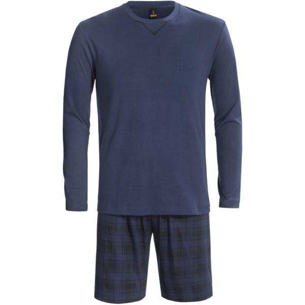Calida Bjorn Henley Shorts Pajamas - Slim Cut, Long Sleeve (For Men)