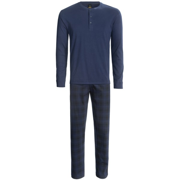 Calida Bjorn Henley Pajamas - Slim Cut, Long Sleeve (For Men)