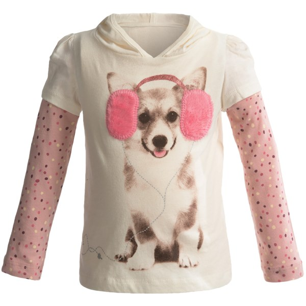 Layered Hooded Shirt - Long Sleeve (for Infant Girls)
