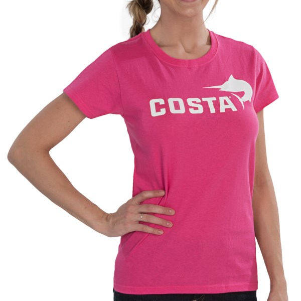 Costa Marlin Logo T-Shirt - Short Sleeve (For Women)