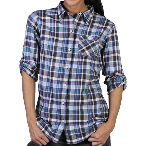 ExOfficio Fortunesca Flannel Plaid Shirt - Long Sleeve (For Women)