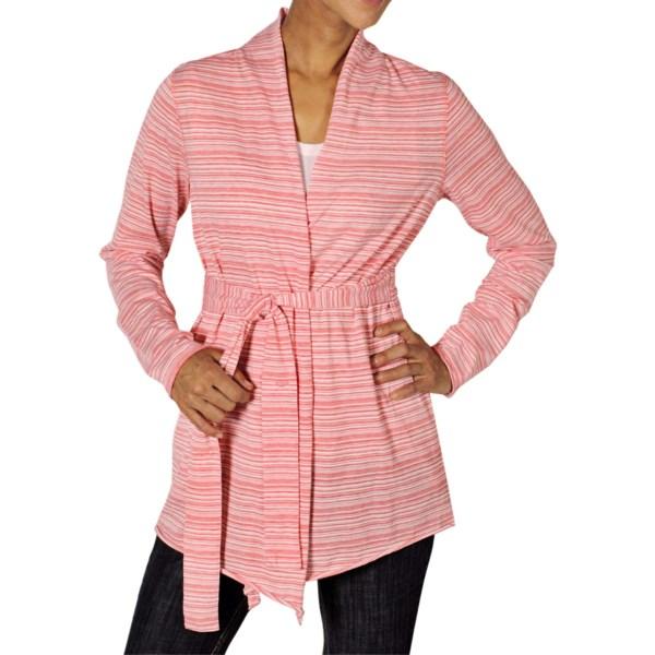 Exofficio Go-to Stripe Wrap Cardigan Sweater (for Women)