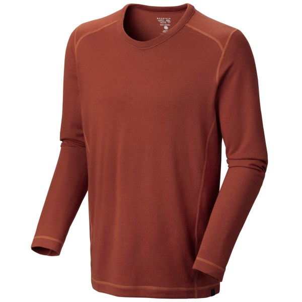 Mountain Hardwear Trekkin Thermal Crew Shirt    UPF 15  Long Sleeve (For Men)   CINDER (XL )
