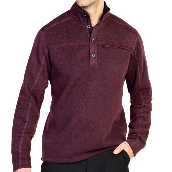 CLOSEOUTS . Soft, breathable and warm Ridgeline fleece with a sweater-like exterior surface makes ExOfficioand#39;s Alpental pullover a great choice for chilly days, whether youand#39;re headed to the office or the camp site. Available Colors: HENNA, SEAWEED, MOSS, BAROQUE. Sizes: S, M, L, XL, 2XL.