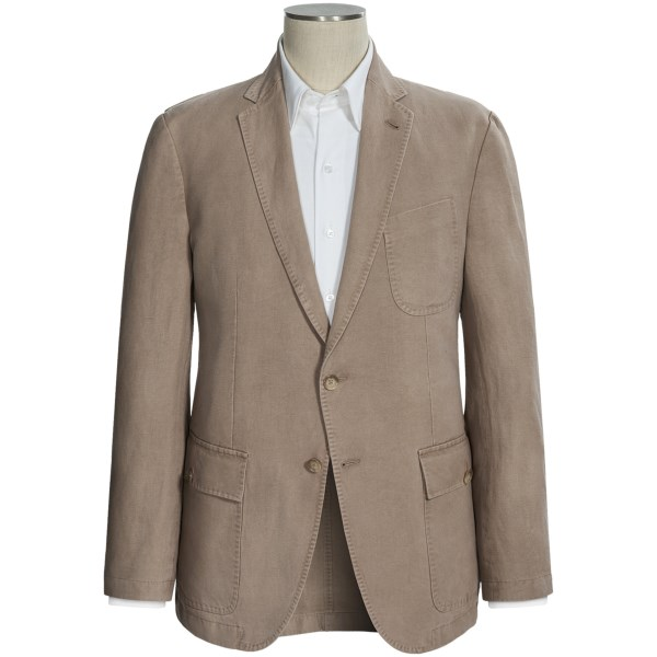 Riviera Red Canvas Sport Coat - Cotton-linen (for Men)