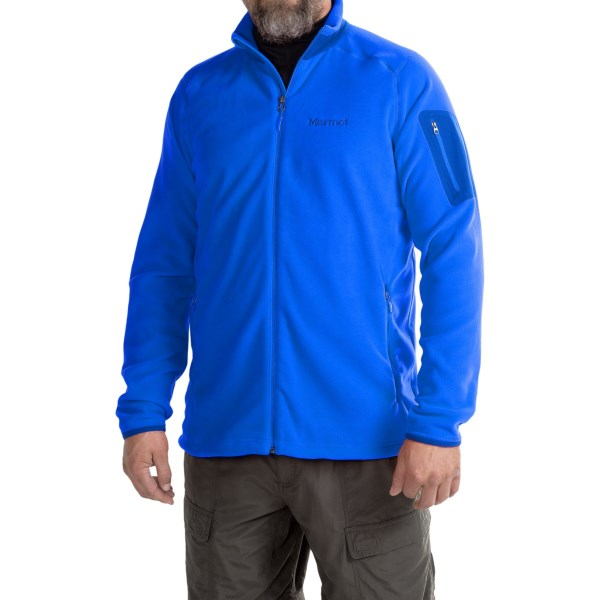 CLOSEOUTS . A classic that always has a home in the adventurerand#39;s closet,  Marmotand#39;s Reactor jacket is made of Polartecand#174; Classic microfleece and constructed with Angel Wing Movement for unrestricted movement even when layering. Available Colors: LEAF, SUNSET ORANGE, FATIGUE, COBALT BLUE, TEAM RED, BLUE SAPPHIRE, RUSTED ORANGE, BROWN MOSS. Sizes: S, M, L, XL, 2XL.