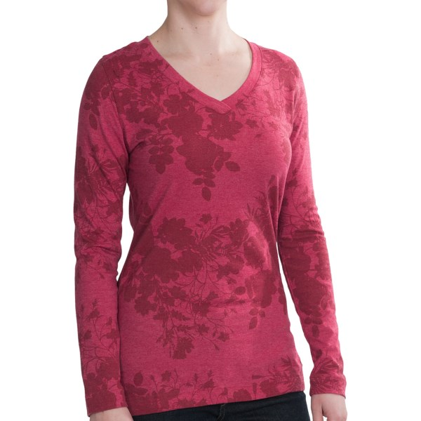 Woolrich Riverview Printed Shirt   Long Sleeve (For Women)   BLACK (L )