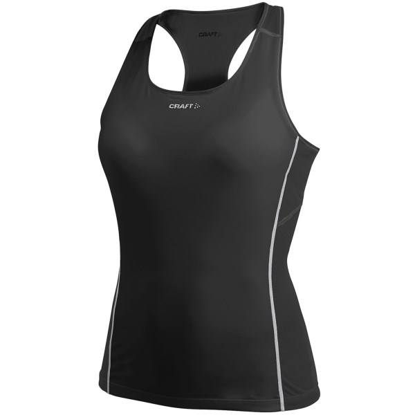 CLOSEOUTS . Made of the lightest, high-performance wicking fibers out there, Craft Sportswearand#39;s Pro Cool singlet top offers the ultimate in warm-weather comfort. The mesh sides and racerback lend ventilation, and the slim, Cool Layer fabric keeps you from overheating. Available Colors: BLACK, VISION, WHITE. Sizes: XS, S, M, L, XL.