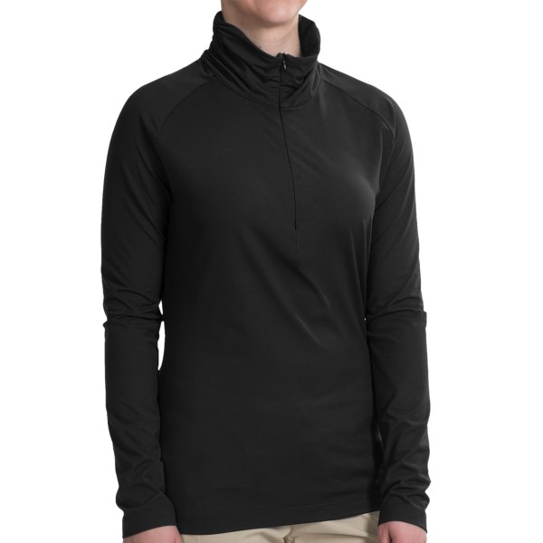 Merrell Lauley Zip Neck Shirt - UPF 30 , Long Sleeve (For Women)