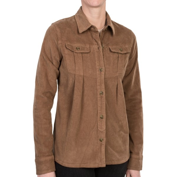 CLOSEOUTS . A versatile, vintage-inspired essential, Gramicciand#39;s Berkley shirt jacket is made of a stretchy-soft corduroy with flattering pleats and a touch of flare toward the hemline -- the perfect combination of features for a layer fiend like you! Available Colors: ROCKY BROWN, WOODY BROWN, MINERAL GREY. Sizes: XS, S, M, L, XL.