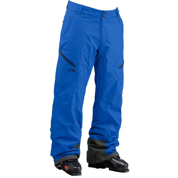 CLOSEOUTS . Waterproof, durable and warmer than a shell pant, Outdoor Research Igneo pants beg to be used on cold days when youand#39;re heading out the resort gates. Pertex Shieldand#174; fabric keeps you dry, and strategically placed Thermore insulation provides warmth where itand#39;s needed. Available Colors: BLACK, GLACIER, PEWTER/CHARCOAL. Sizes: XS, S, M, L, XL, 2XL, 2XS.