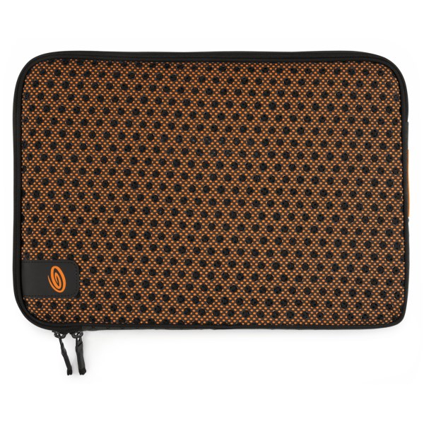 CLOSEOUTS . Timbuk2and#39;s Crater laptop sleeve is well-ventilated and the high-density foam provides excellent protection while maintaining a slim and lightweight design. Available Colors: CARBON/TANGERINE, BLACK/GUNMETAL.