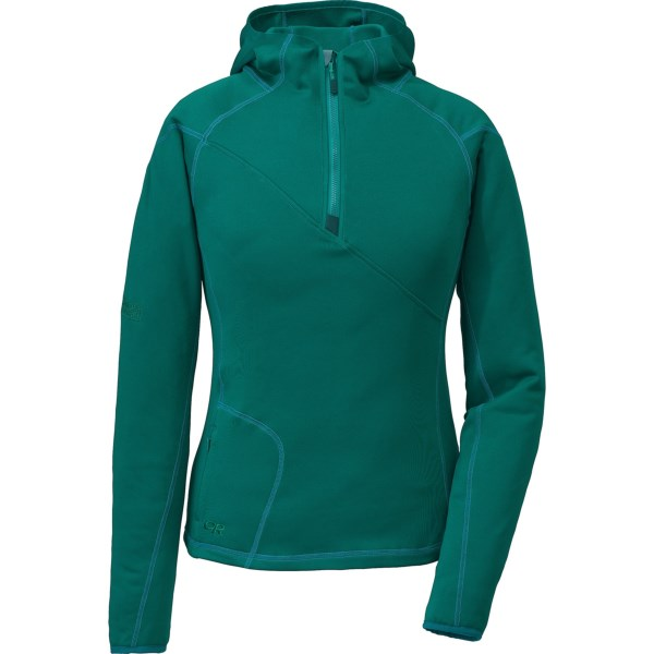 Outdoor Research Radiant HD Hooded Pullover - Trim Fit, Zip Neck (For Women)