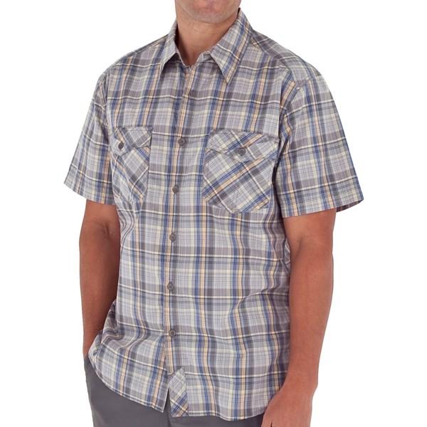Royal Robbins Lenny Plaid Shirt   Short Sleeve (For Men)   SKY BLUE (XL )