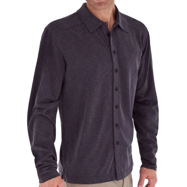 Royal Robbins Desert Knit Shirt   TENCEL(R)  Long Sleeve (For Men)   CONCORD (XL )