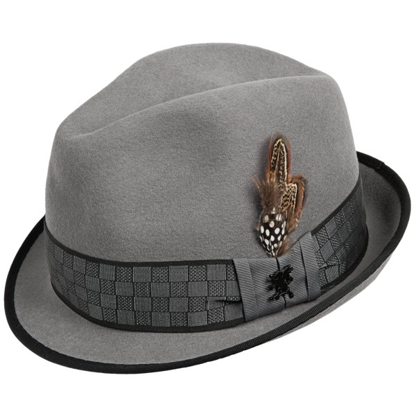Stacy Adams Fedora Hat with Square Print (For Men)