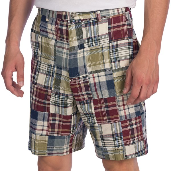 Berle Patch Indian Madras Shorts - Cotton (For Men)