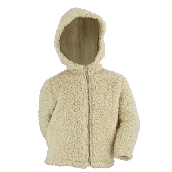 White Sierra Fuzzy Wooly Hoodie (For Girls)