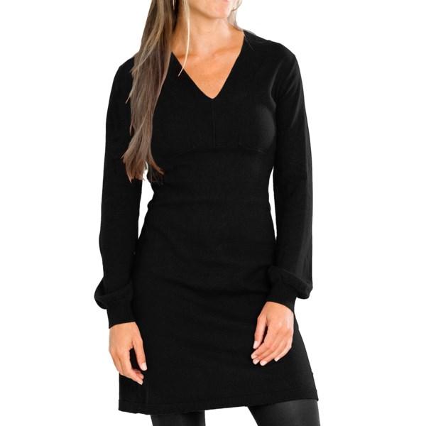 Carve Designs Auburn Dress - Cotton-Cashmere, Long Sleeve (For Women)